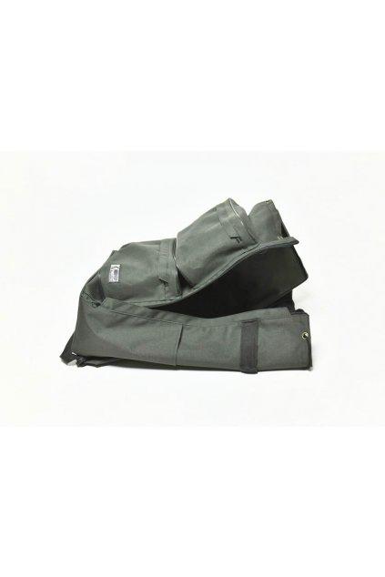 Batoh rybářský KINETIC (1+2+2 kapsy, 50 litrů), barva černo-zelená